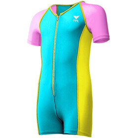 TYR Solid Combinaison Thermique Fille, blue/pink/yellow
